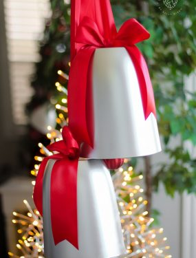 GORGEOUS Giant Silver Bells for Christmas! You'll never believe what they're made of!