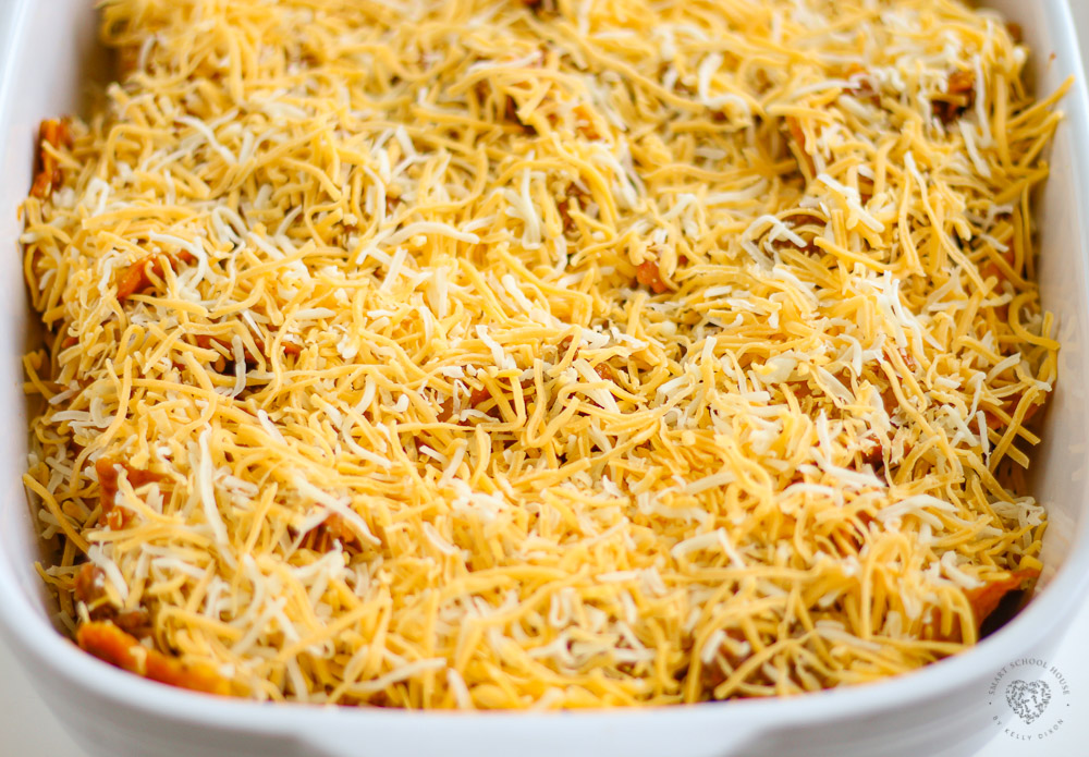 Lazy Enchiladas with Tortilla Chips