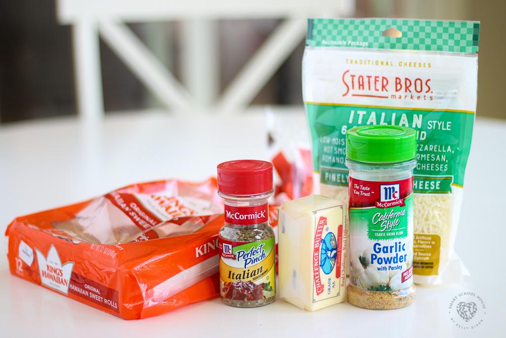 Ingredients for Hawaiian garlic bread