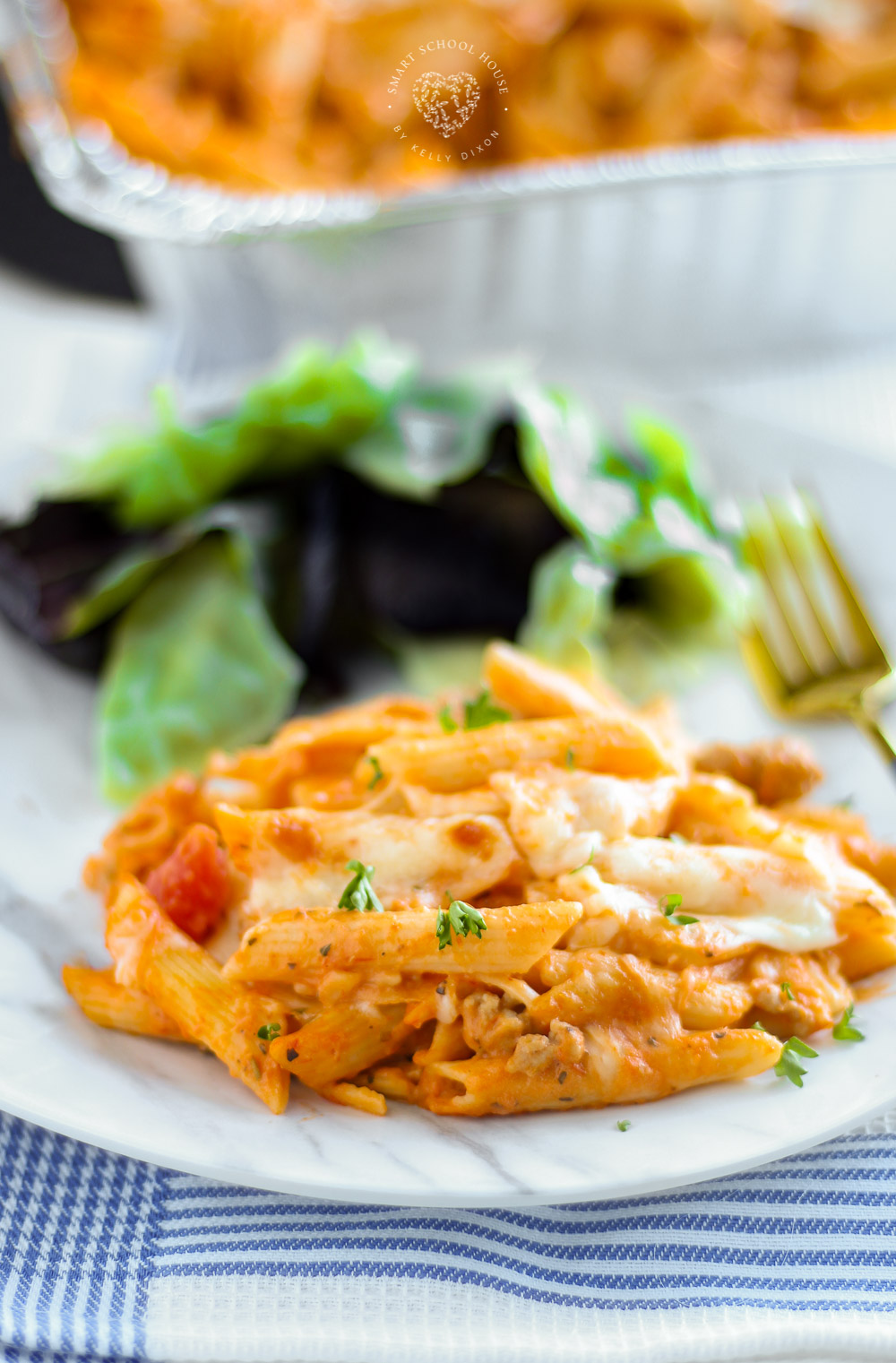 If you are searching for the perfect comfort food recipe, this Pink Pasta Casserole recipe is for you. This delicious dinner recipe is so easy to make. This creamy, cheesy pink pasta recipe is an easy weeknight dinner that the whole family will enjoy. Leftovers are so delicious!