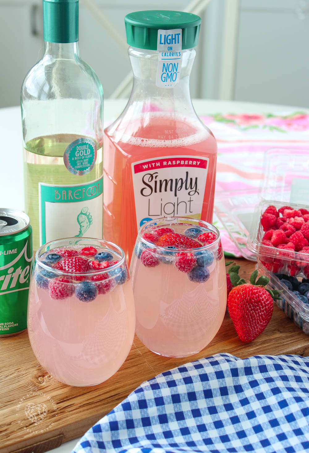 Moscato Punch is a fun recipe for all of your get-togethers, like Easter, Mother's Day, or the 4th of July!
