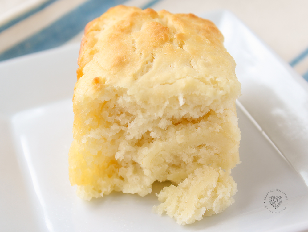 Quick and easy homemade buttermilk biscuits swimming in butter! The ultimate comfort food. These buttermilk biscuits are perfect for breakfast with gravy, jelly or honey, or served as a side dish for dinner. They go great with chili, meat, and soup. One of the best recipes on Pinterest ever, seriously! Your grandmothers would be so proud. They bake up in no time and the entire family will love this simple side dish as it goes with any meal.