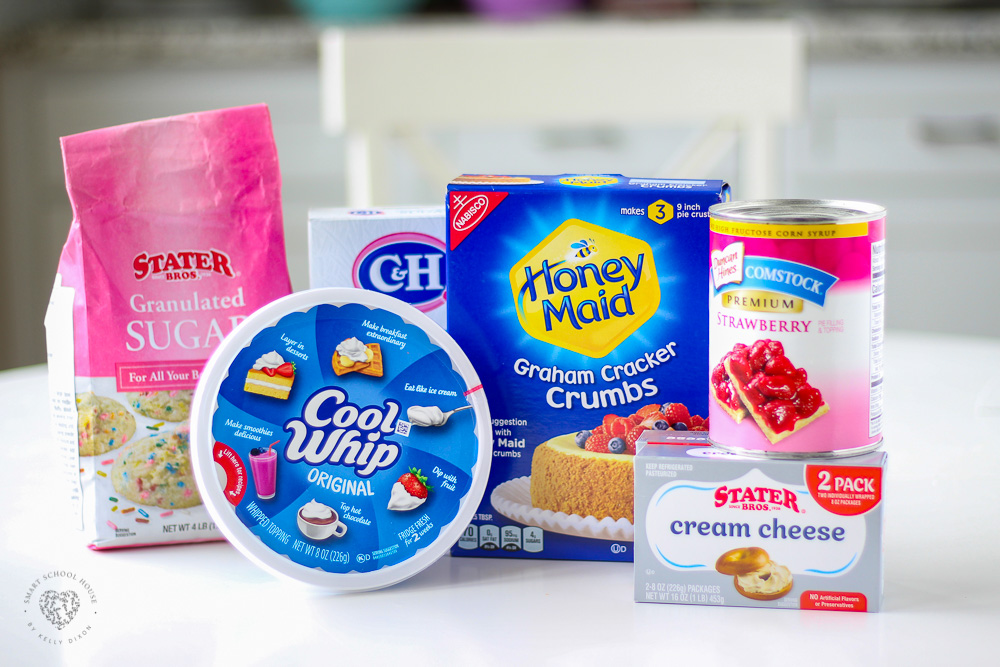 Ingredients for Strawberry Cheesecake Bars
