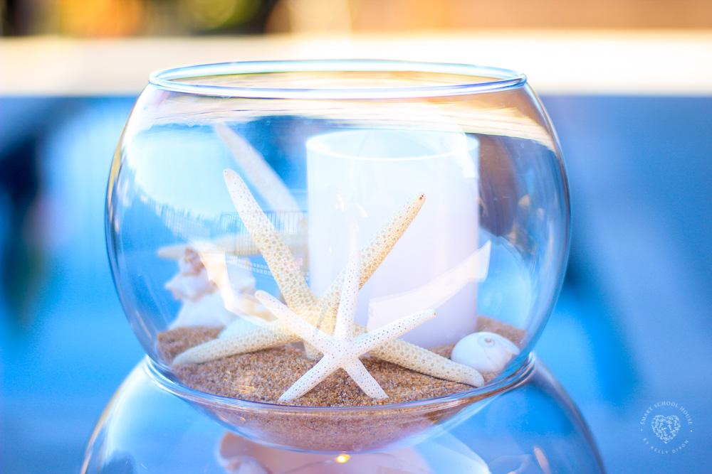 Stacked Fish Bowls with Seashells
