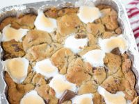 Baked S'mores Recipe with Chocolate Chip Cookie Dough