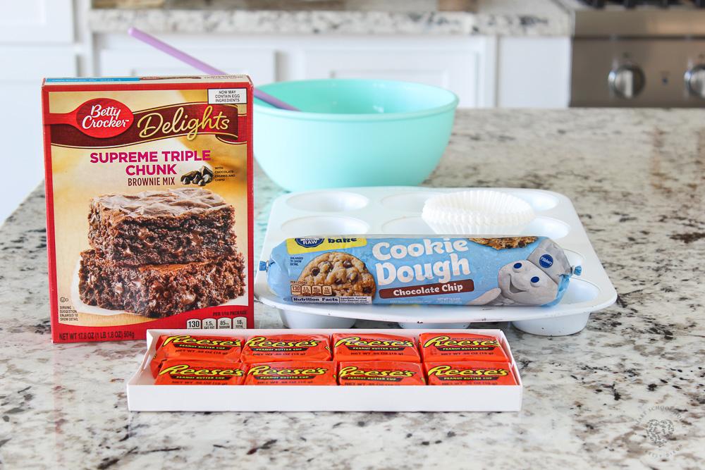 Peanut Butter Cup Brookies Ingredients