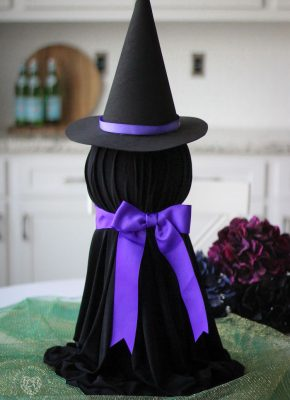 How to Make a Paper Towel Roll Witch with a Styrofoam ball for Halloween!