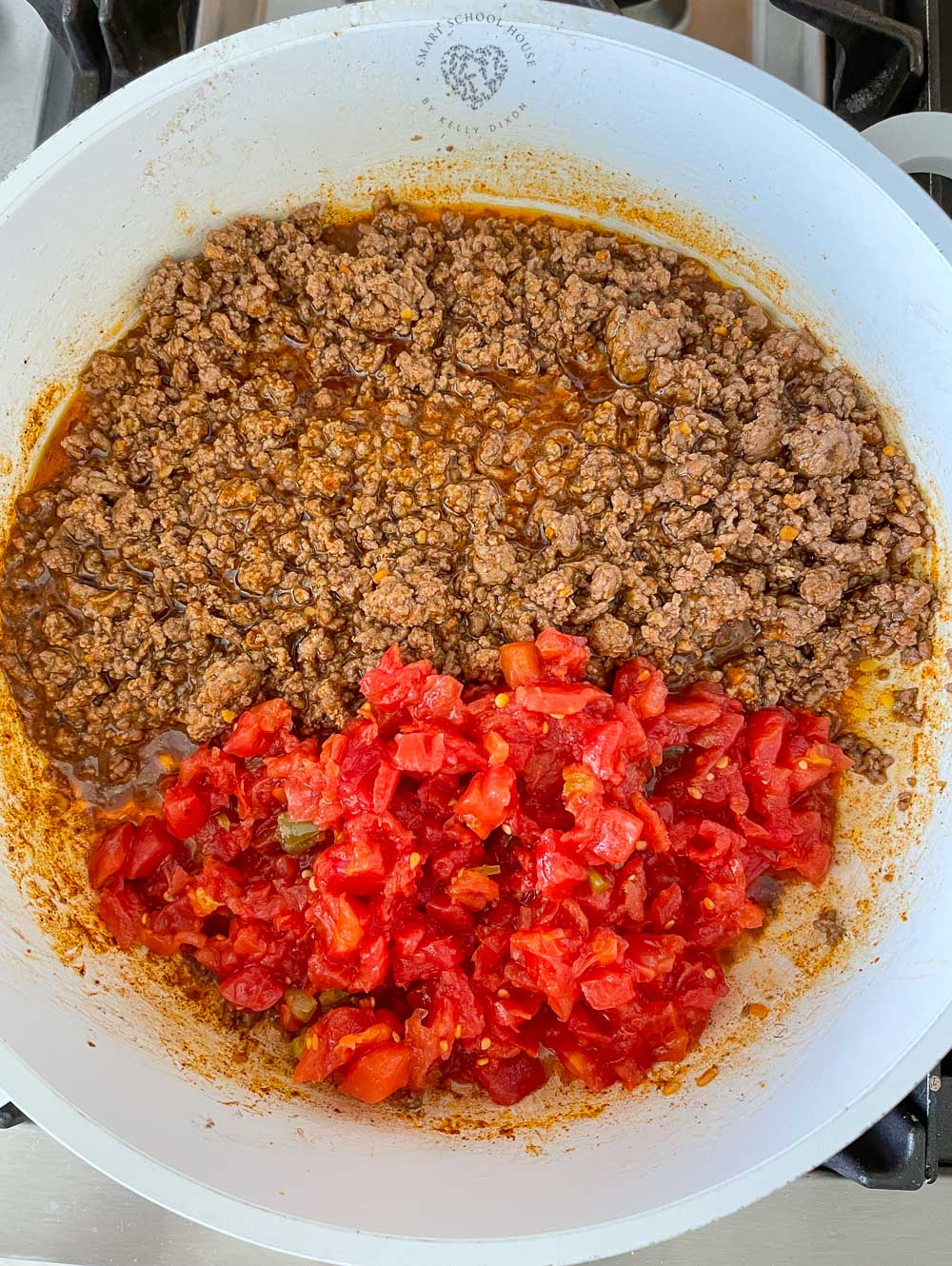Taco meat with Rotel tomatoes